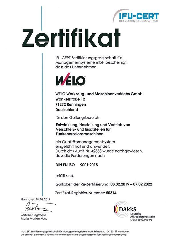 2019_ISO_9001_Zertifikat_WELO